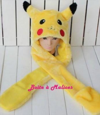 Bonnet pikachu manchon