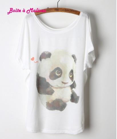 T shirt cute panda