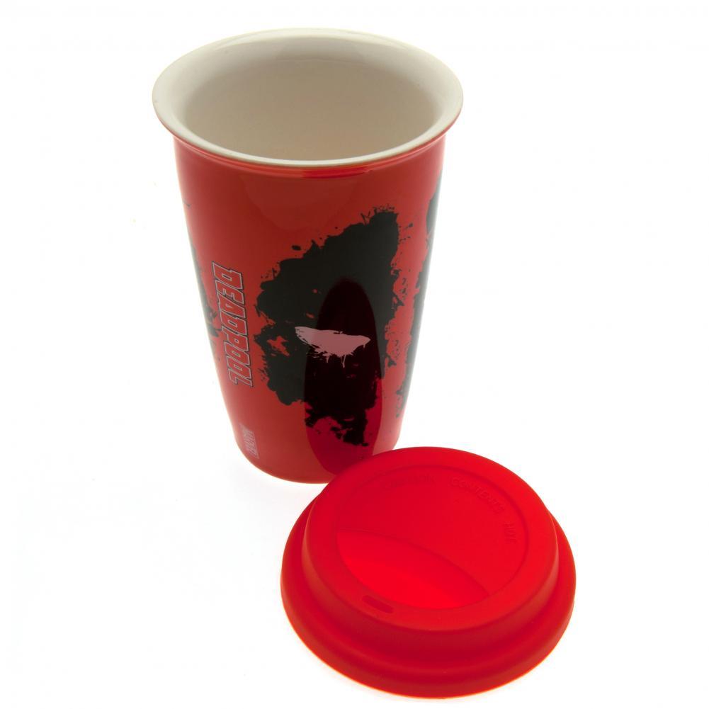 Travel mug ceramic deadpool