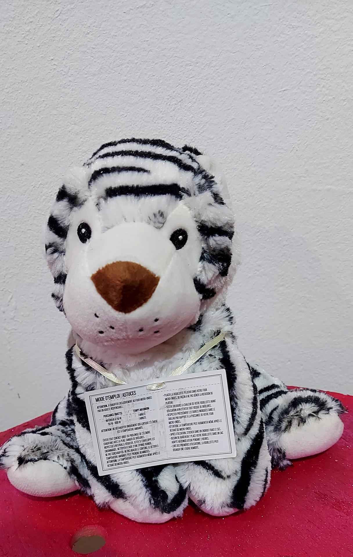 Peluche tigre bouillotte