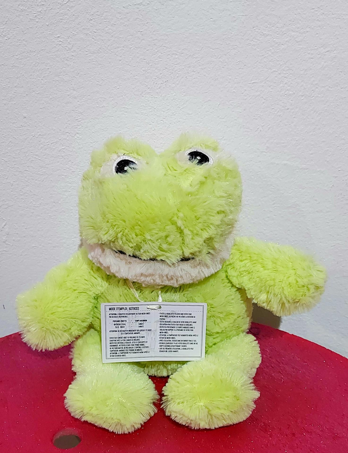 Peluche grenouille bouillotte