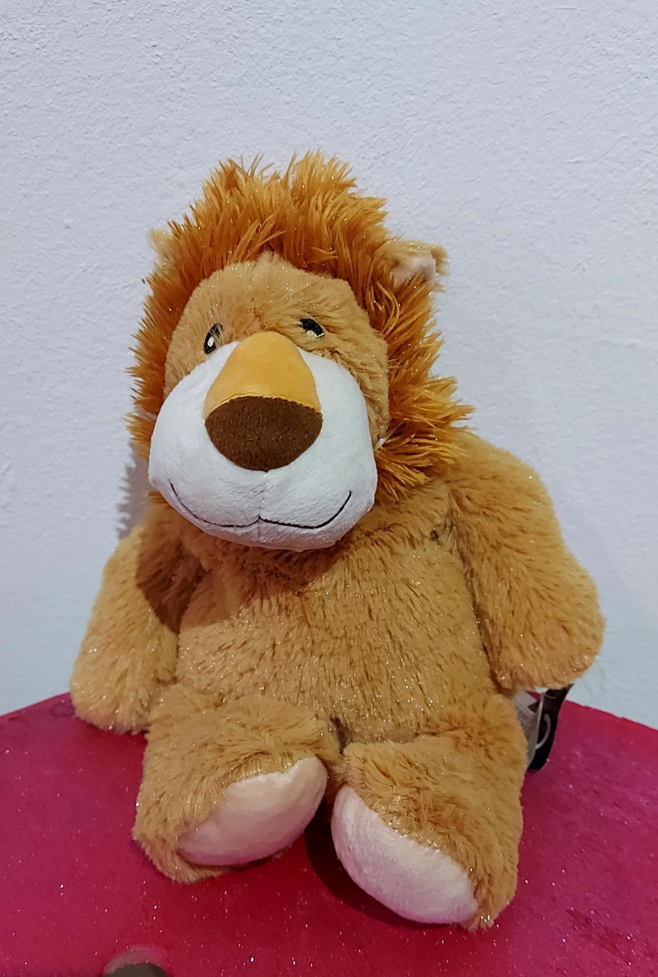 peluche bouillotte lion