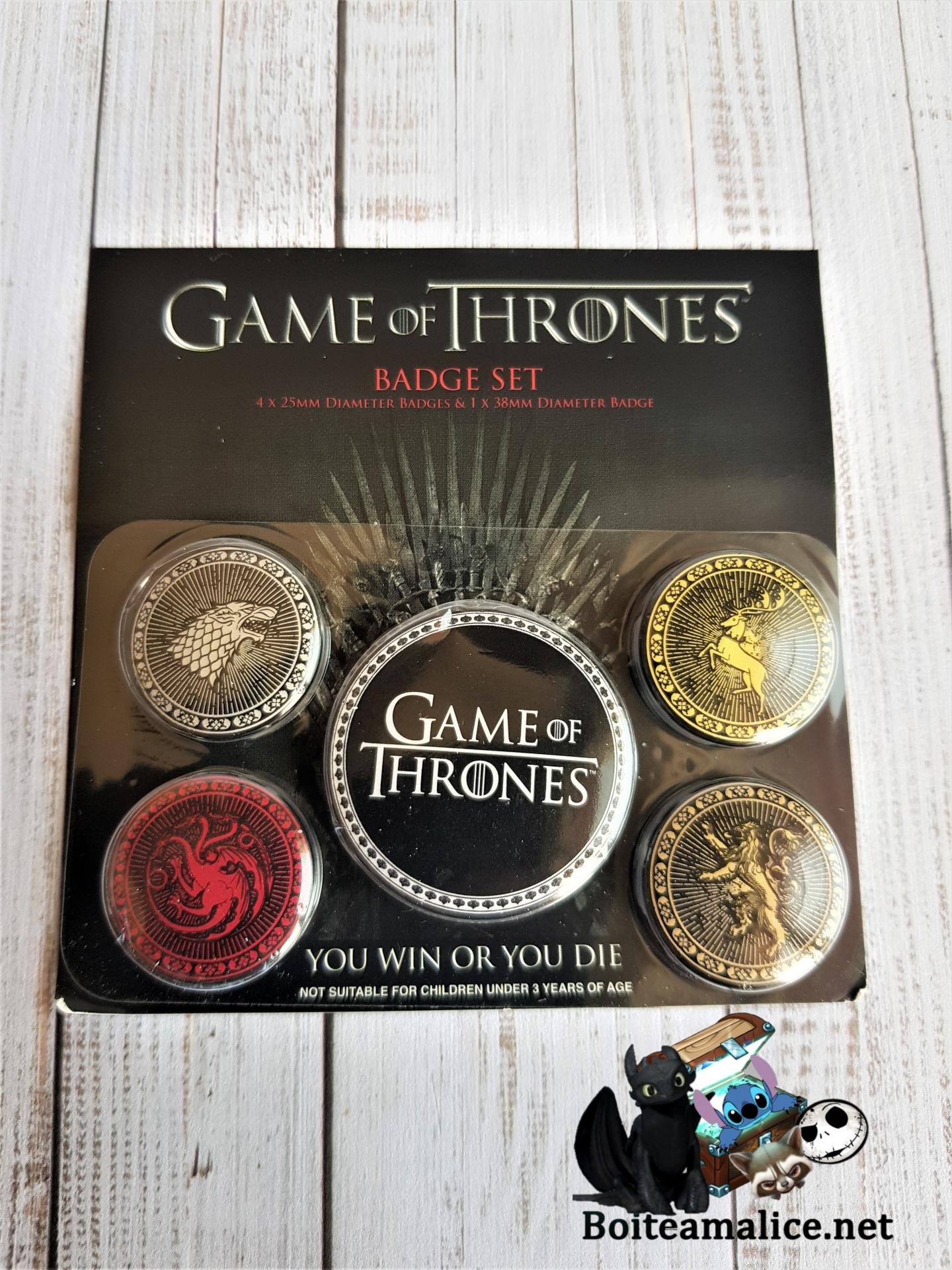 Badge game of thrones maison