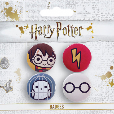Badges harry potter chibi