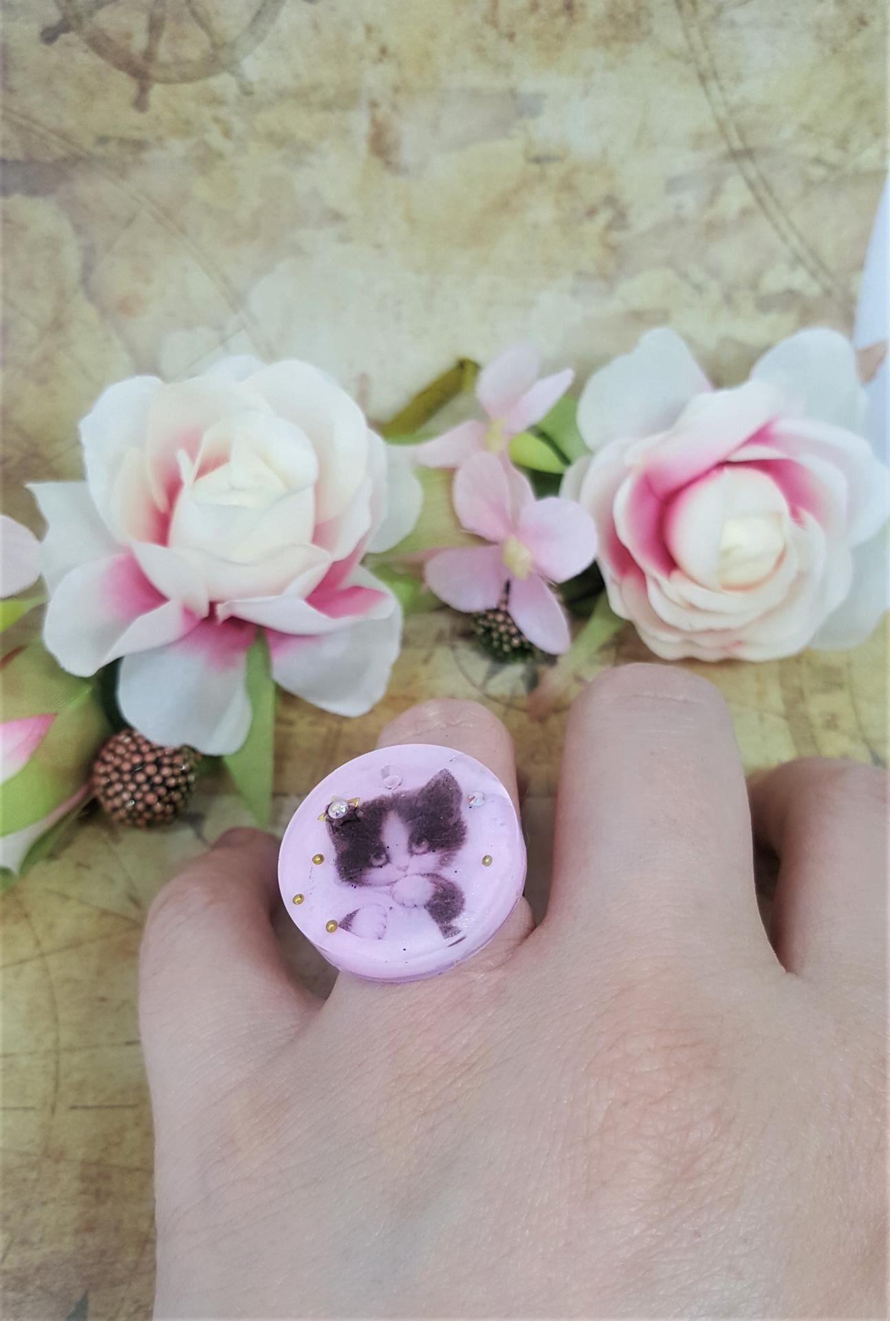 Bague kawaii chat 1