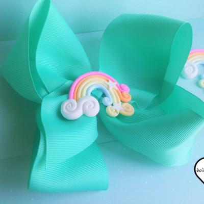 Barrette kawaii arc en ciel 1