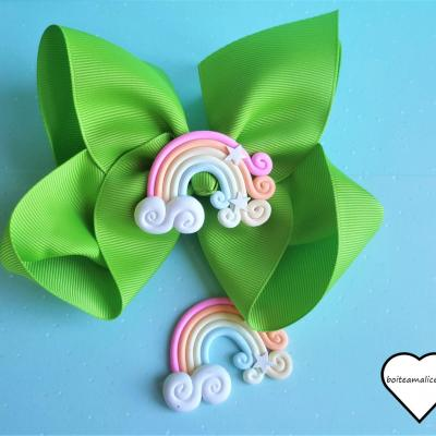Barrette kawaii arc en ciel 2