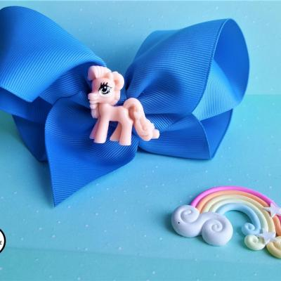Barrette kawaii poney rose