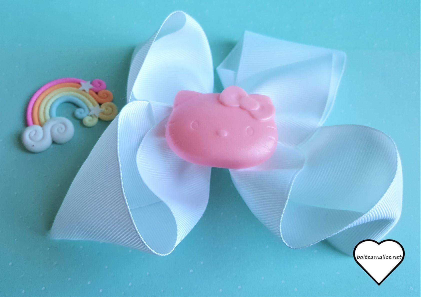 Barrette noeud blanc kawaii hello kitty