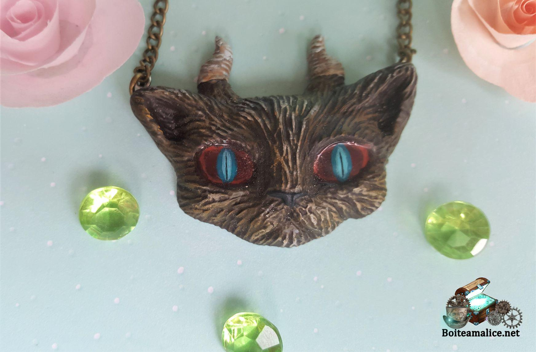 Bijoux gothique chat collier