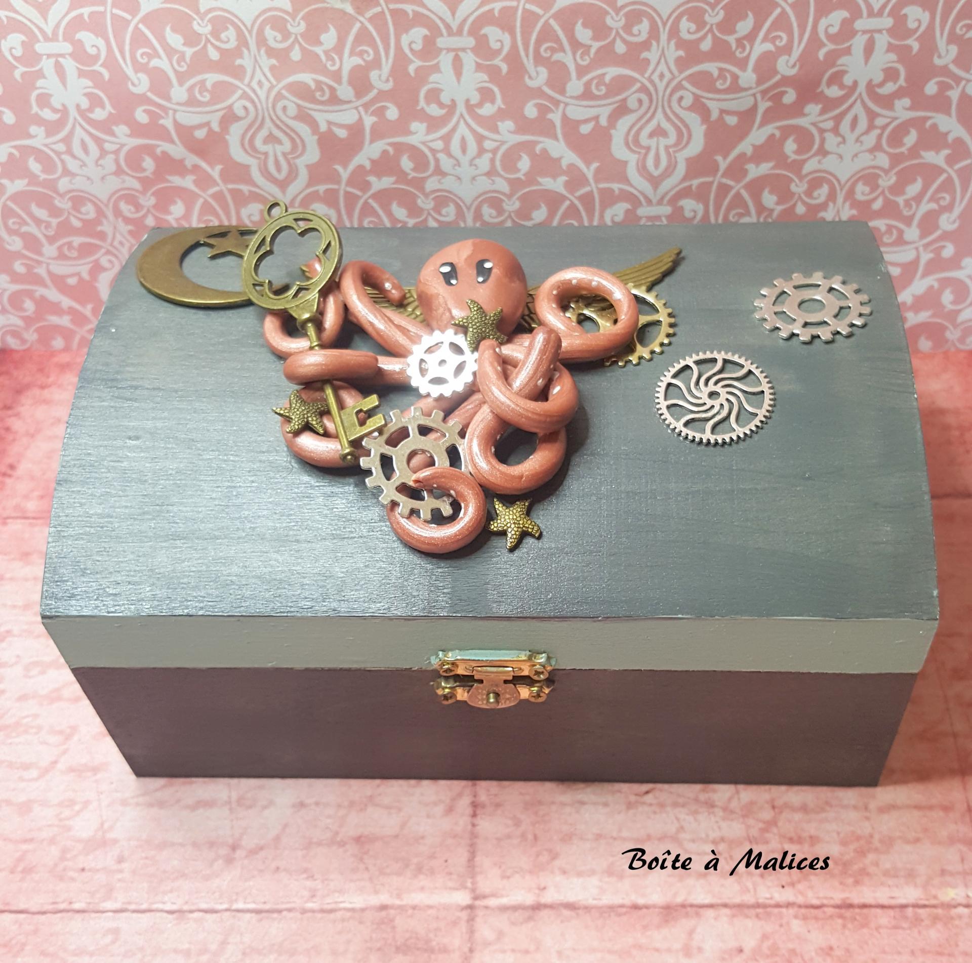 Boite a bijoux pieuvre