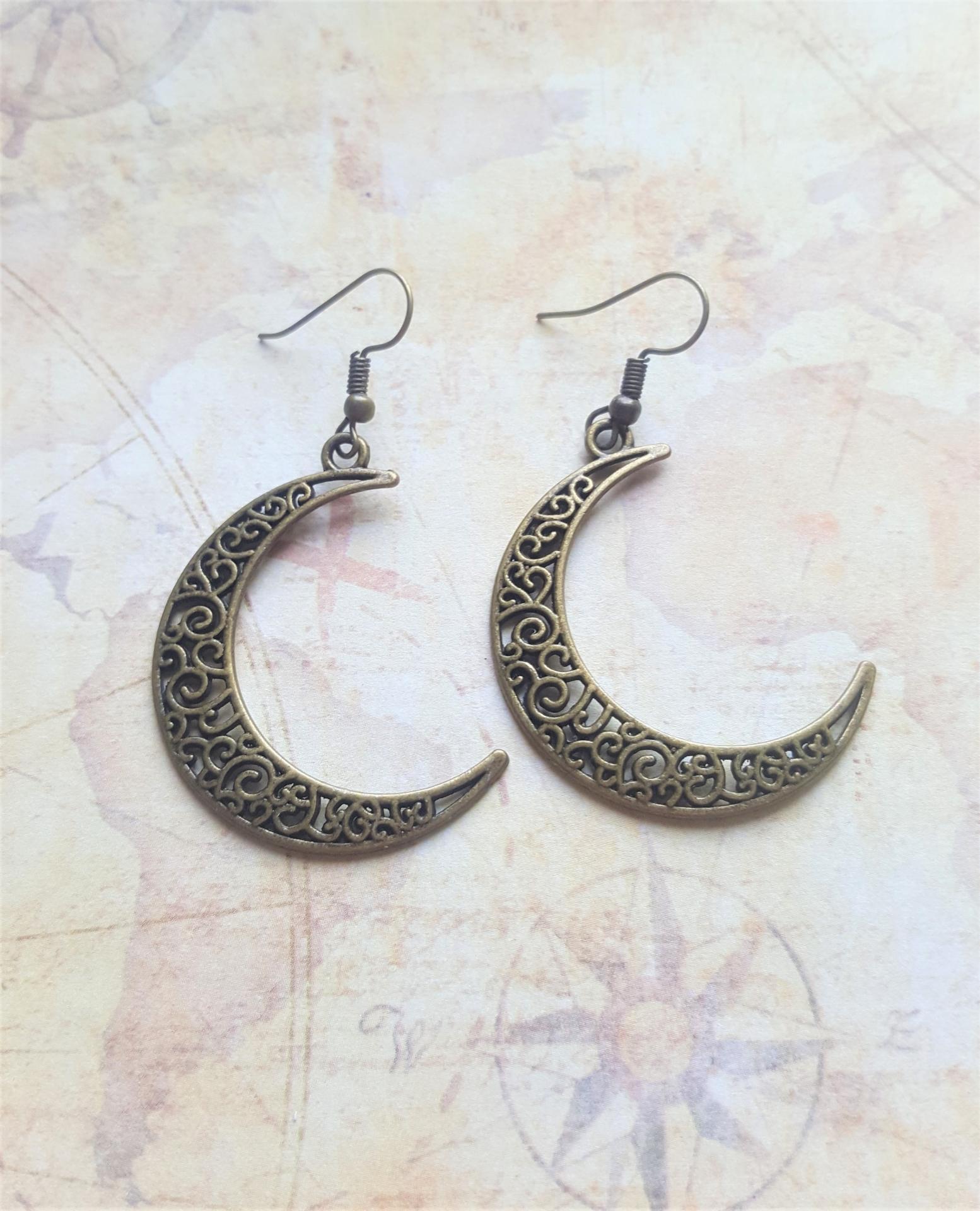 Boucles d oreille lune