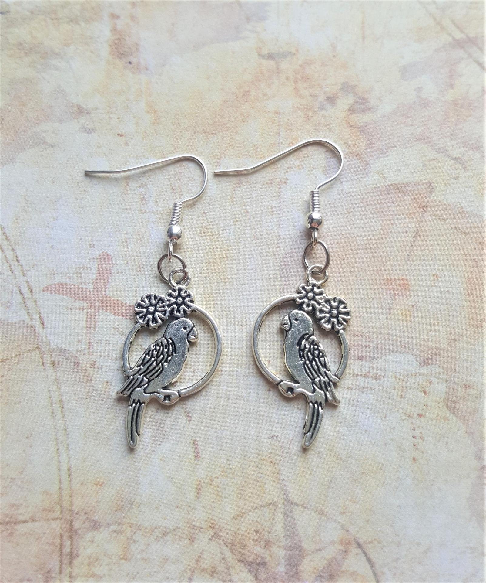 Boucles d oreille perroquet