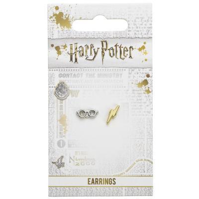 Boucles d'oreilles lunettes et éclair Harry Potter