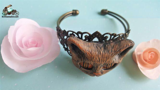 Bracelet chat bijoux femme