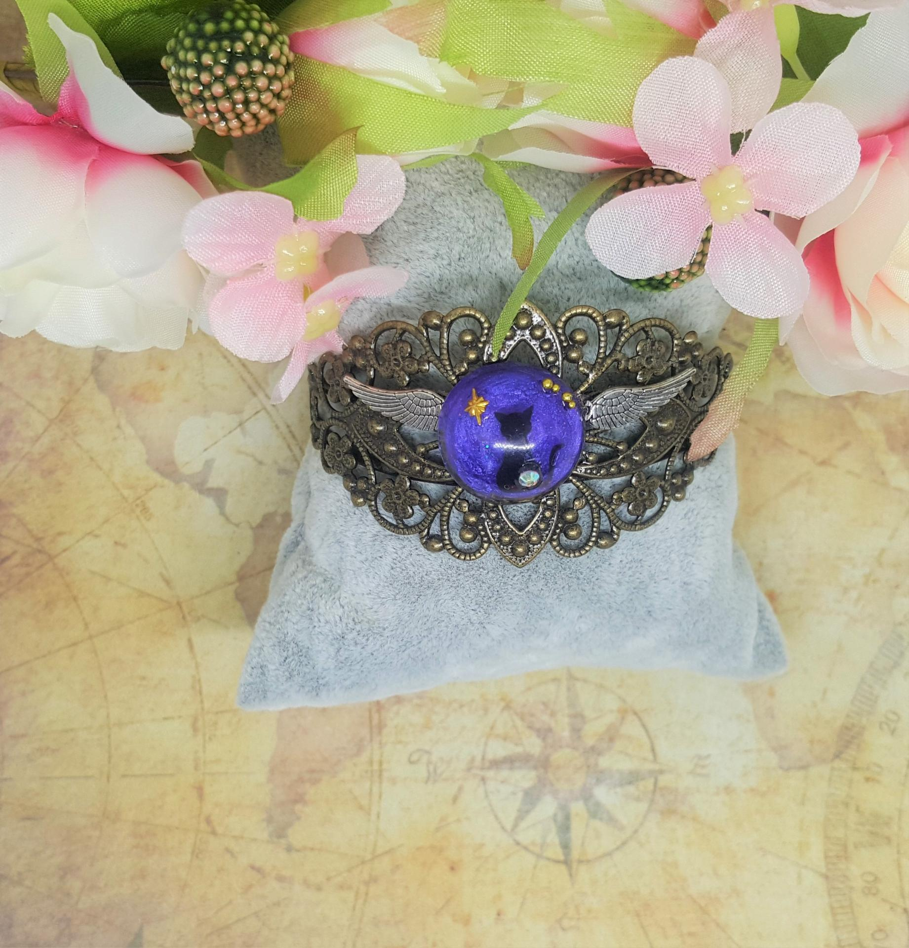 Bracelet chat bronze