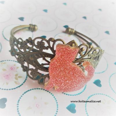 Bracelet chat pour femme