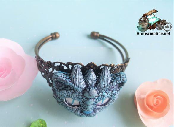 Bracelet jonc femme chat