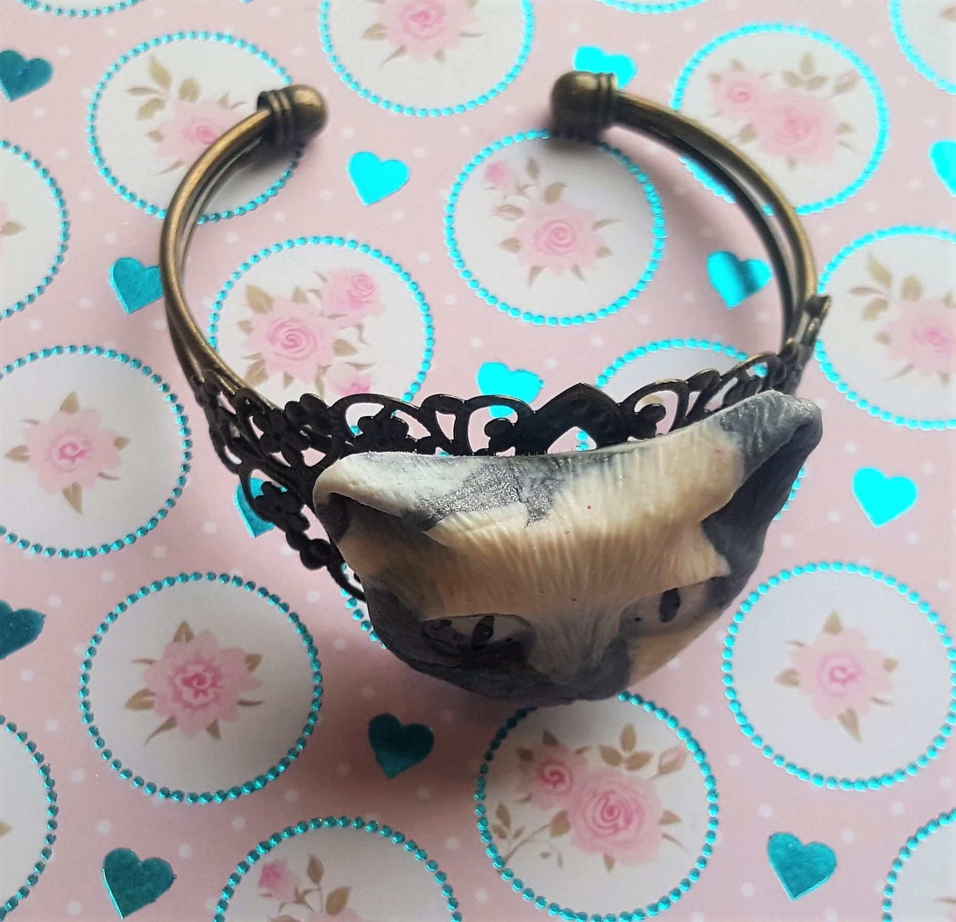 Bracelet laiton avec chat