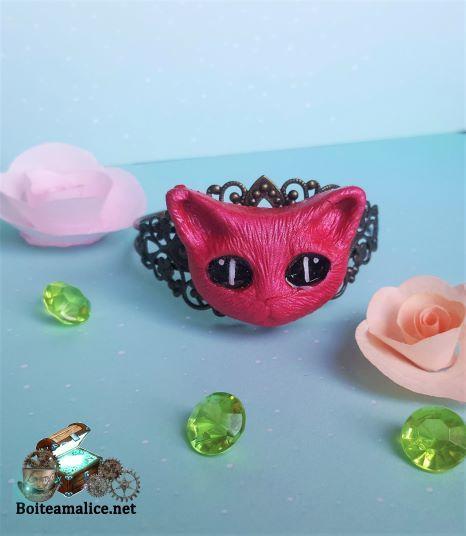 Bracelet manchette chat