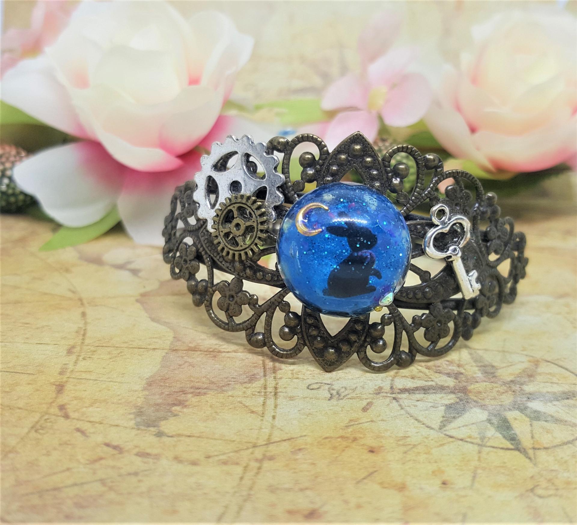 Bracelet steampunk lapin 1