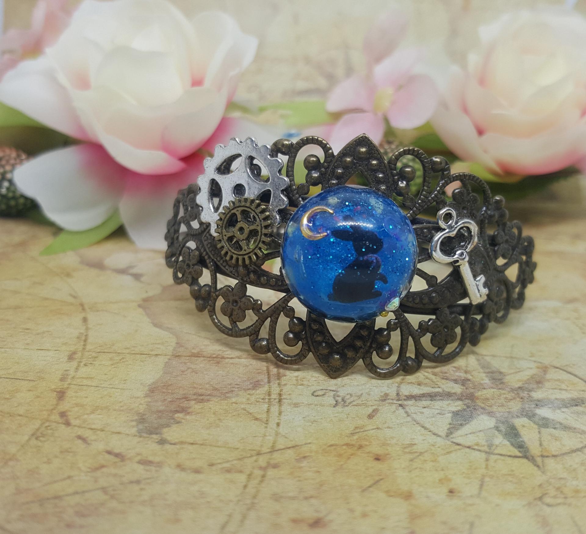 Bracelet steampunk lapin 2