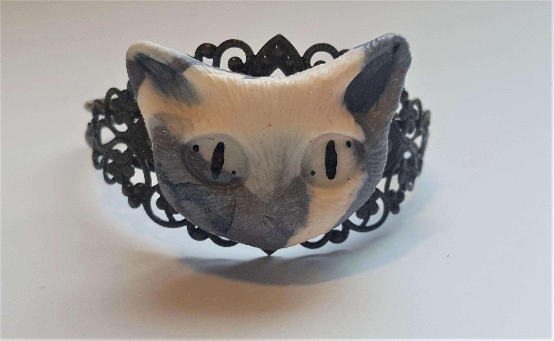 Bracelet tete de chat 1
