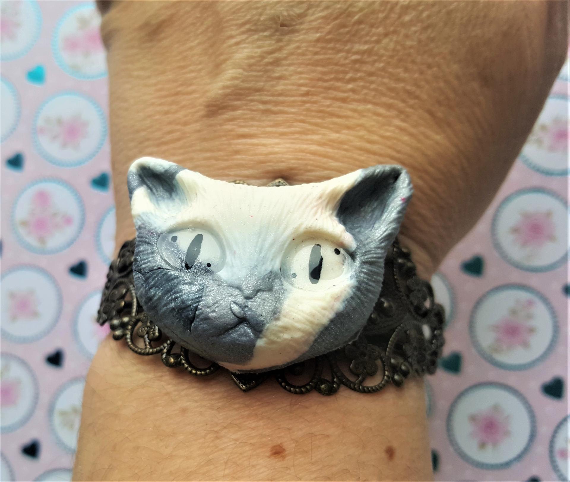 Bracelet tete de chat 2