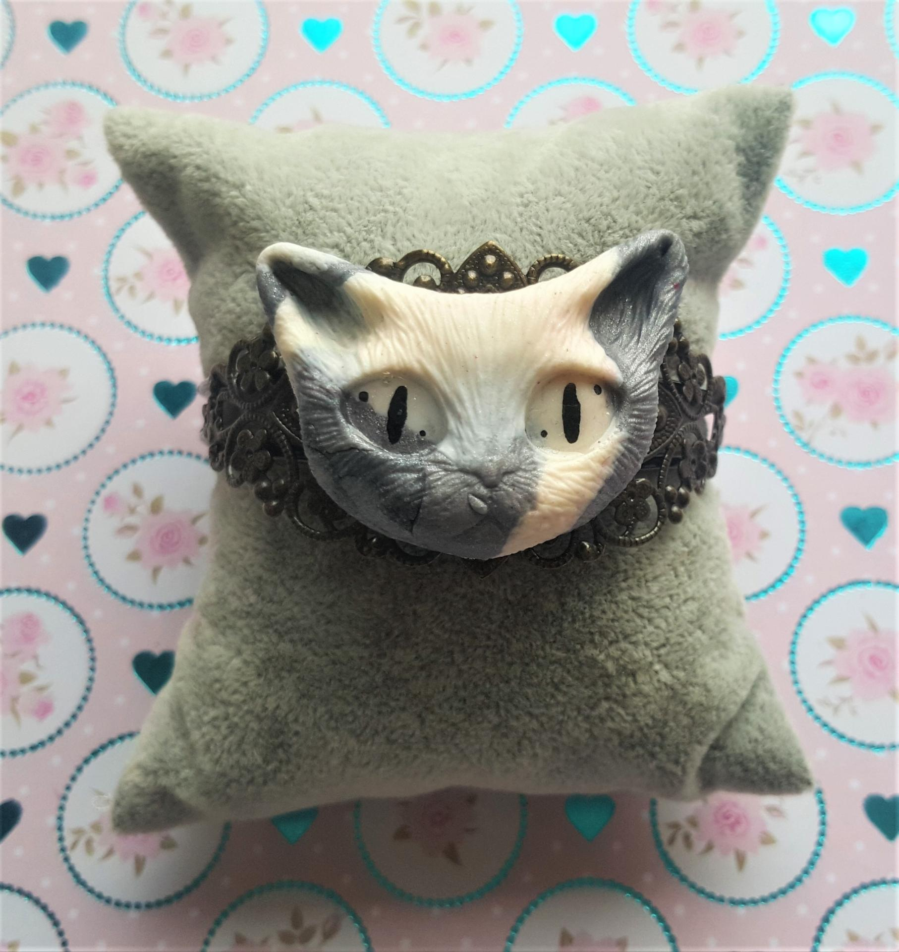 Bracelet tete de chat 3