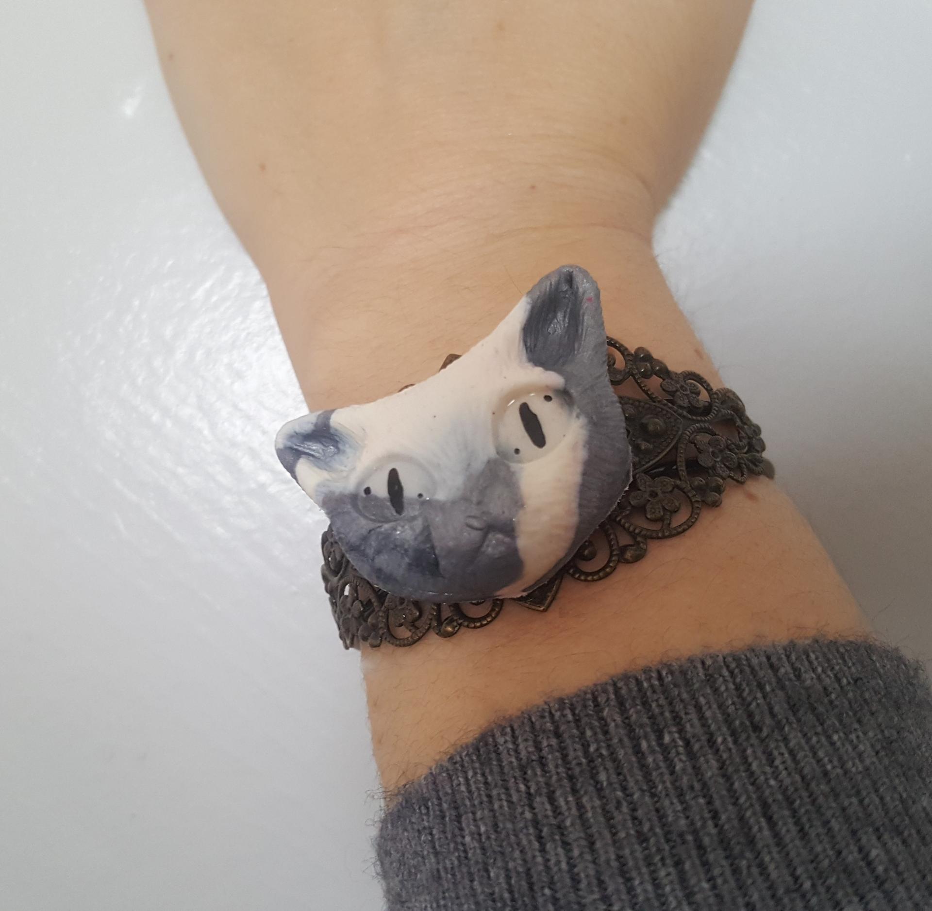 Bracelet unique chat