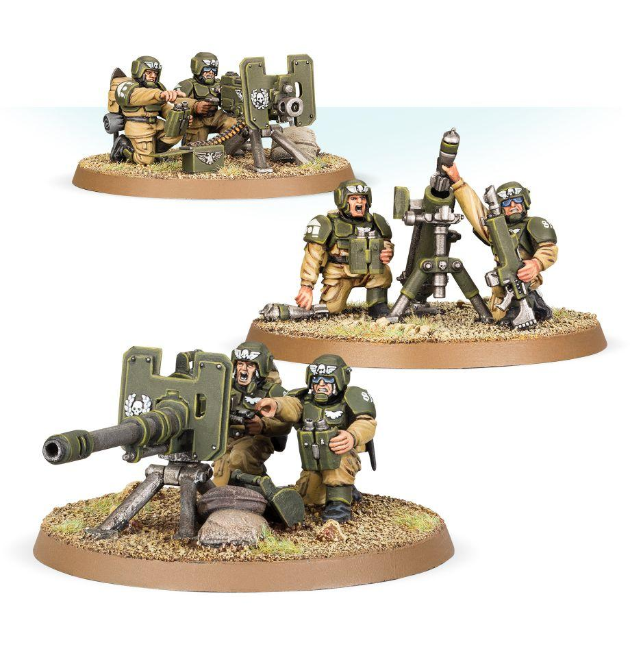 Cadian heavy weapons warhammer