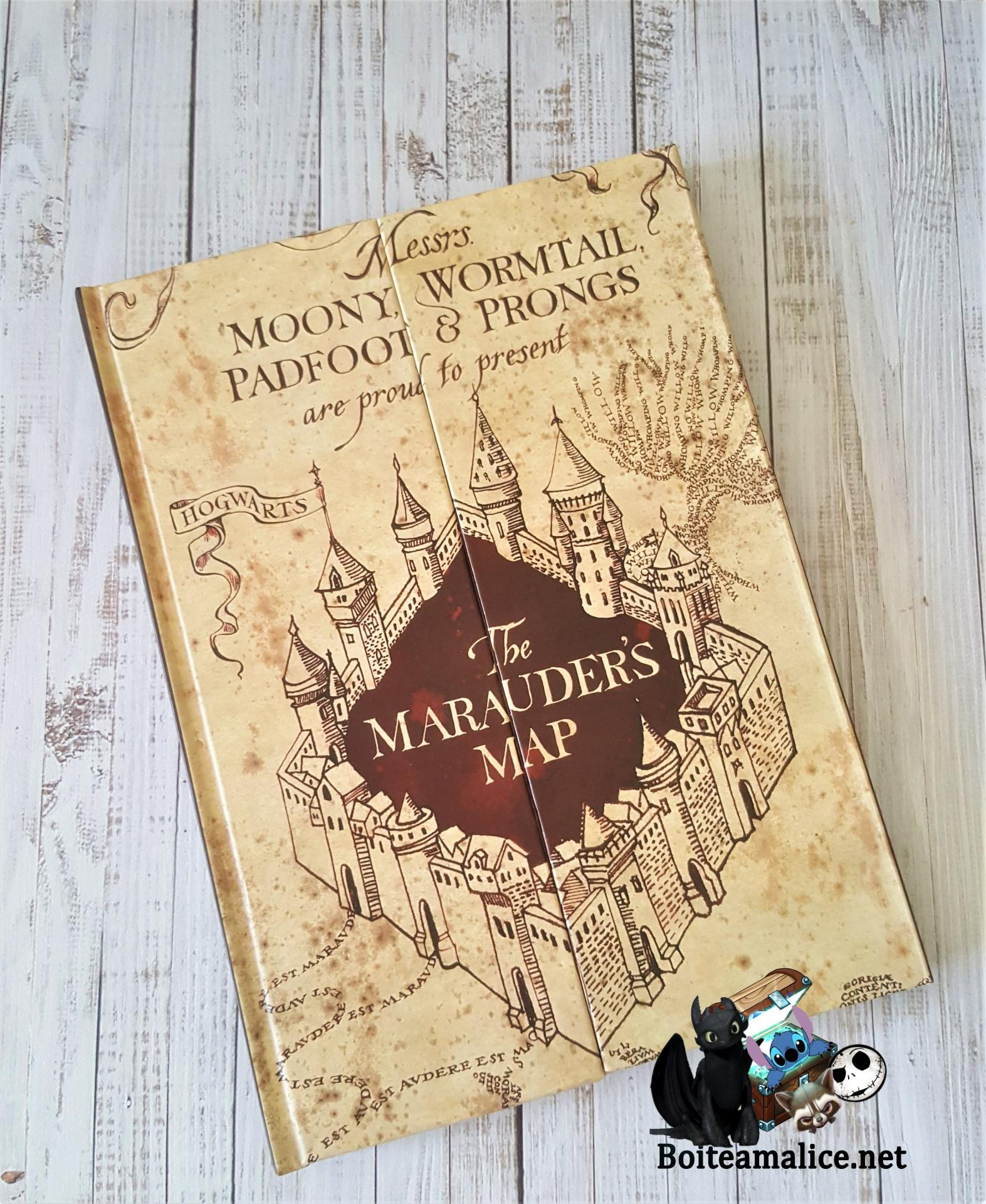 Cahier harry potter carte maraudeur