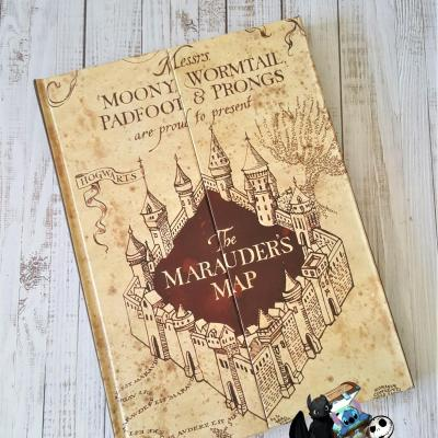 Cahier harry potter carte maraudeur