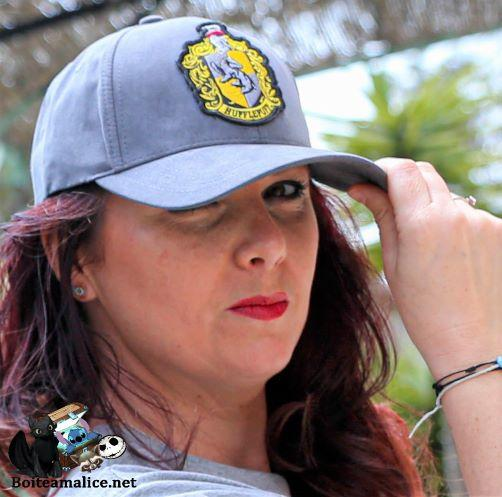 Casquette poufsouffle harry potter