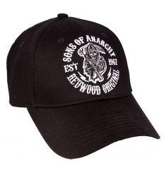 Casquette sons of anarchy soa logo