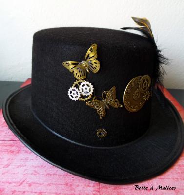 Chapeau papillon steampunk