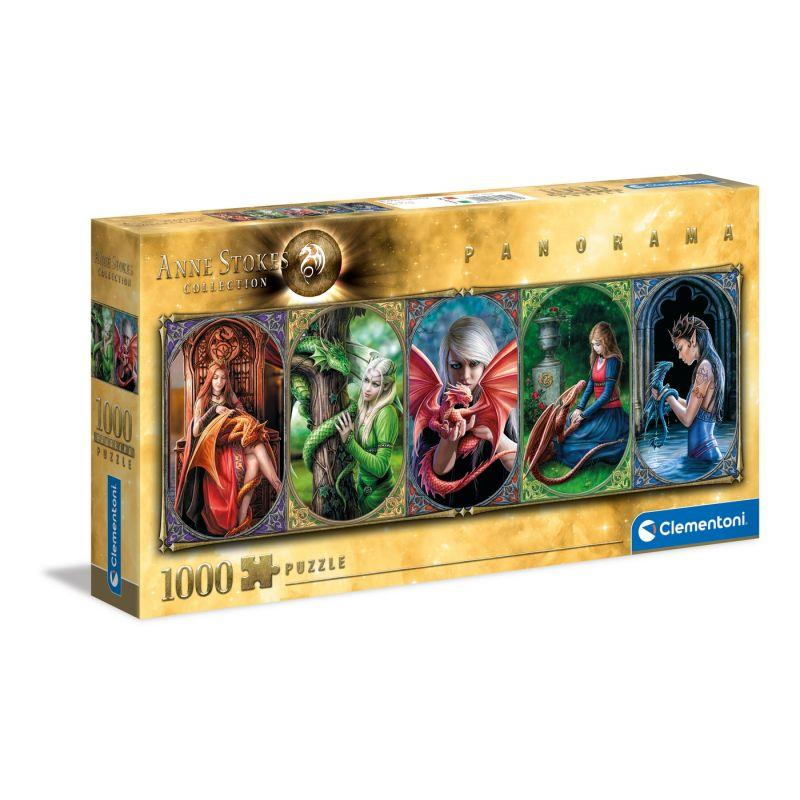Clementoni puzzle anne stokes panorama 1000 pieces dragon