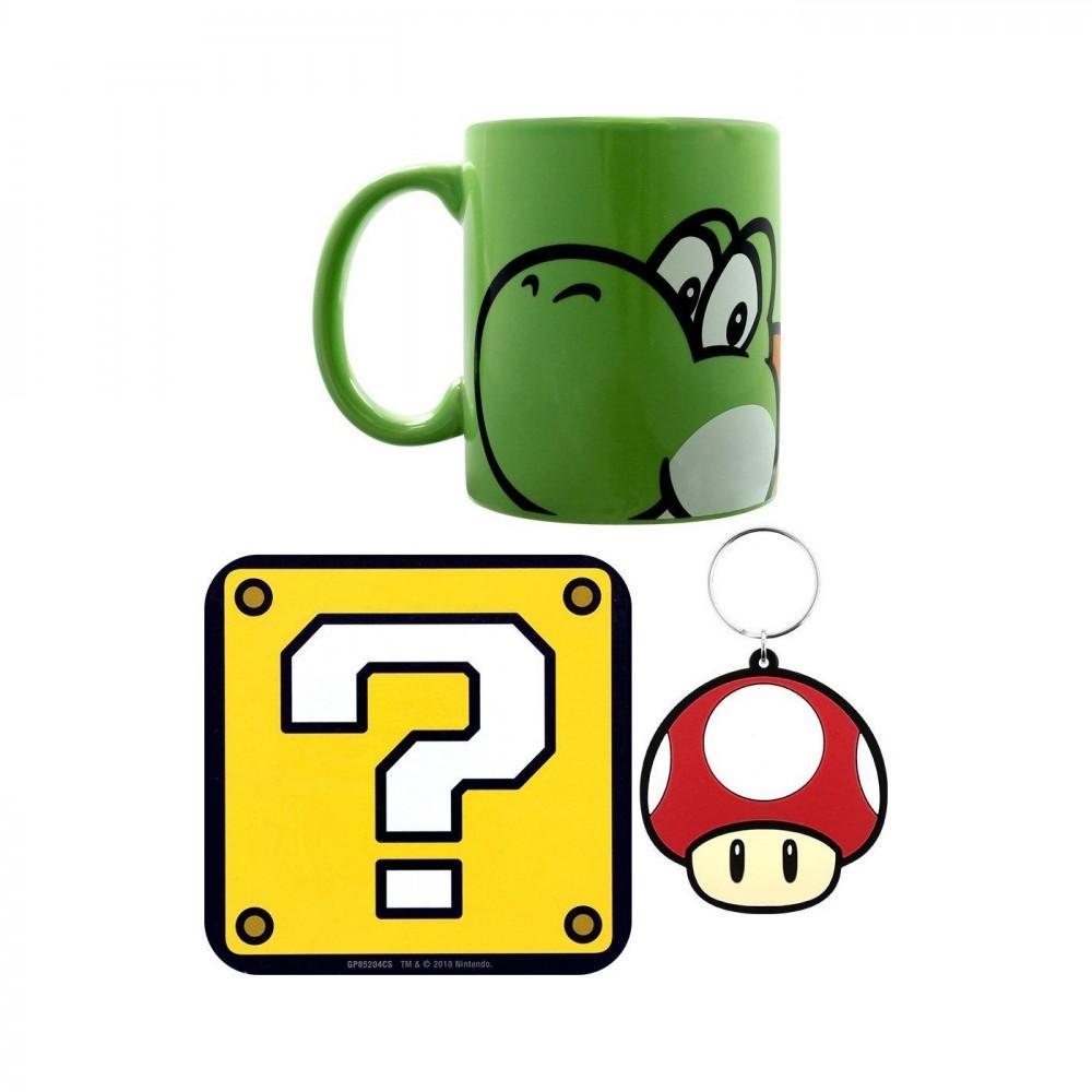 Coffret cadeau nintendo yoshi mug porte cles