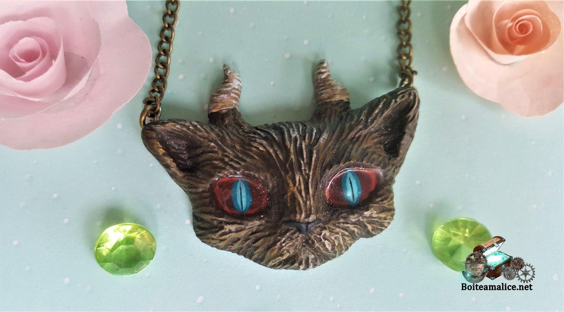 Collier evil cat gothique femme