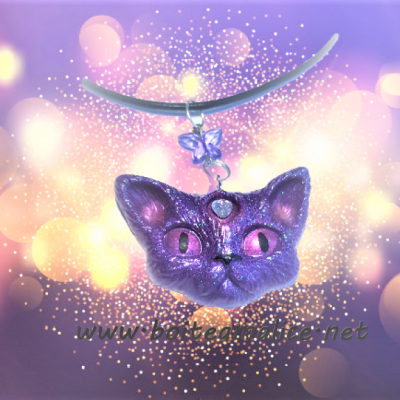 Collier femme chat pendentif kawaii 1
