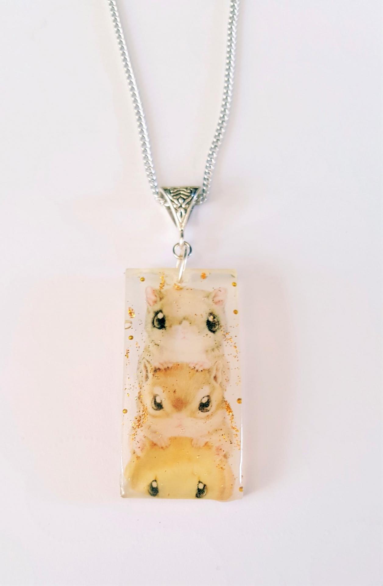 Collier resine hamster kawaii