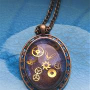 Collier steampunk fait main