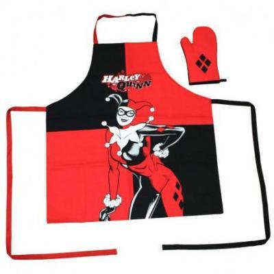 Dc comics harley quinn tablier de cuisine et gant