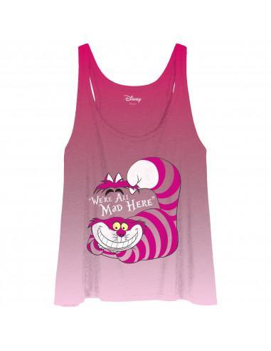 Debardeur femme alice disney mad cheshire cat 1