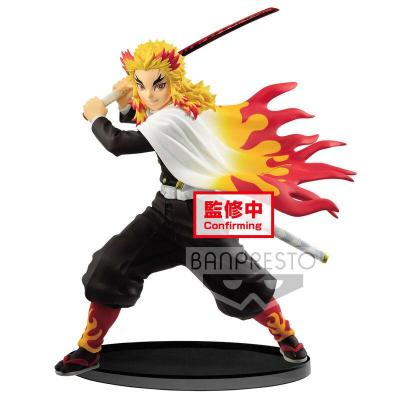 Figurine kyojuro rengoku vibration stars demon slayer kimetsu no yaiba 15cm