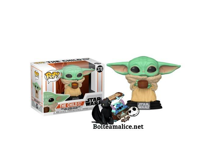 Funko pop mandalorian the child with cup yoda