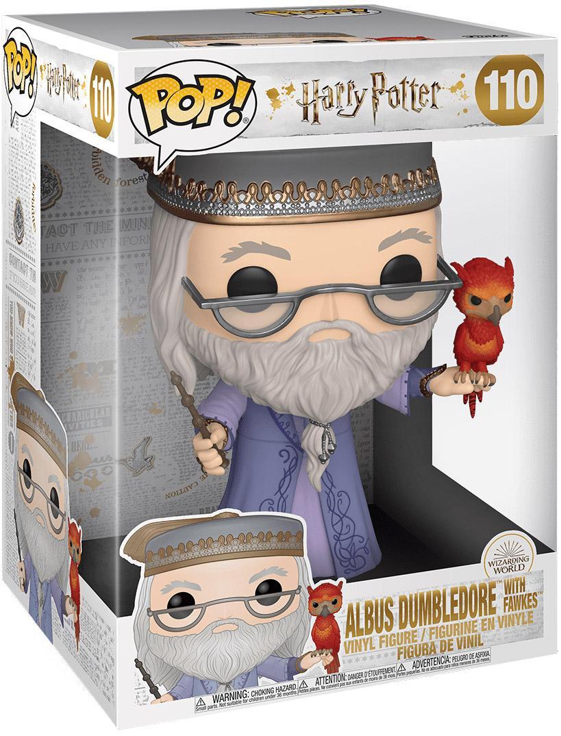 Harry potter 110 albus dumbledore avec fumseck 25 cm