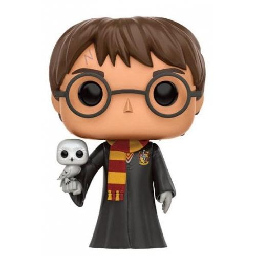 Harry potter figurine pop harry hedwig 9 cm