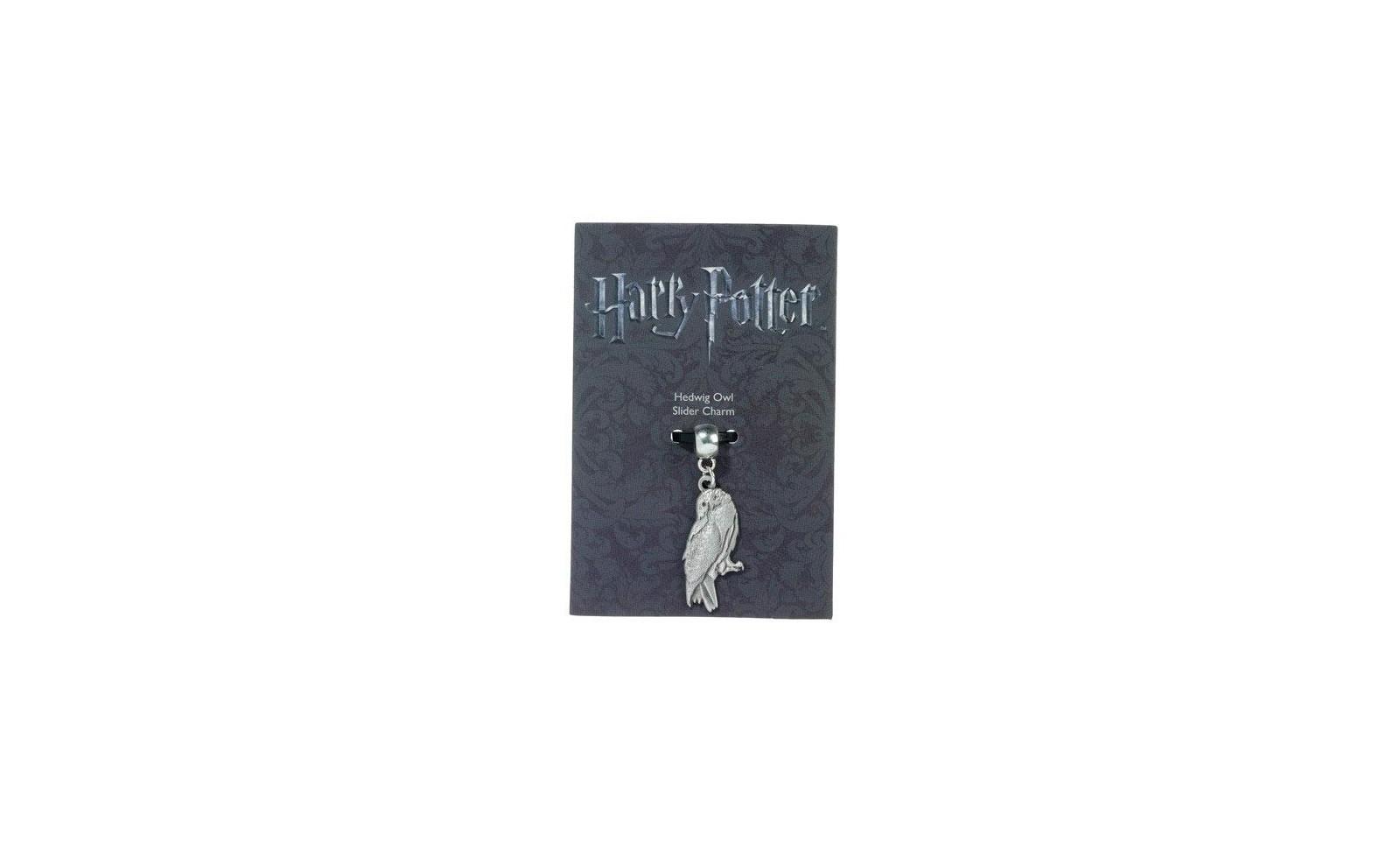 Harry potter pendentif breloque hedwige la chouette plaque argent