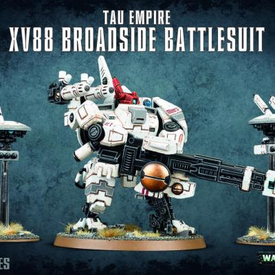 XV88 broadside battlesuit T'au empire WARHAMMER